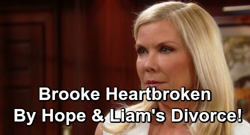 The Bold and the Beautiful Spoilers: Brooke Heartbroken Over Lope Divorce - Horrified By Ridge's Reaction To Split