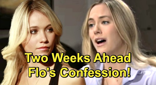 The Bold and the Beautiful Spoilers: Two Weeks Ahead - Guilty Flo's Beth Baby Swap Confession To Hope