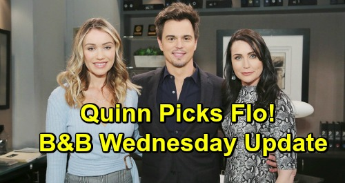 bold and the beautiful spoilers flo fulton katrina bowden quinn forrester rena sofer wyatt spencer darin brooks