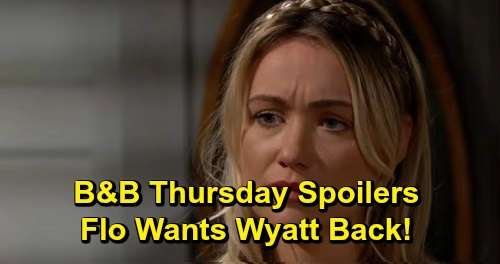 The Bold and the Beautiful Spoilers: Thursday, September 19 - Flo Professes Her Love To Wyatt - Shauna Begs Quinn To Keep Wyatt From Sally