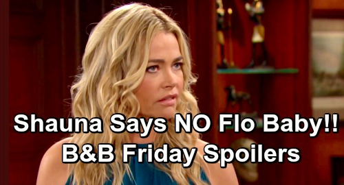 The Bold and the Beautiful Spoilers: Friday, April 12 Update – Shauna Declares Flo Was Never Pregnant, Stuns Hope