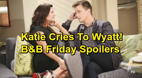 The Bold and the Beautiful Spoilers: Friday, February 15 - Katie Tells Wyatt Marriage Is Over - Bill Wants Katie Back