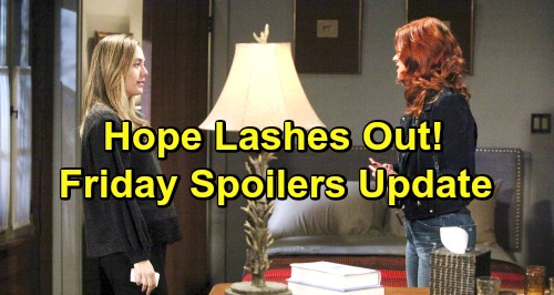 The Bold and the Beautiful Spoilers: Friday, January 18 Update – Hope Fights Angry Instincts – Thorne's Past Rushes Back to Him