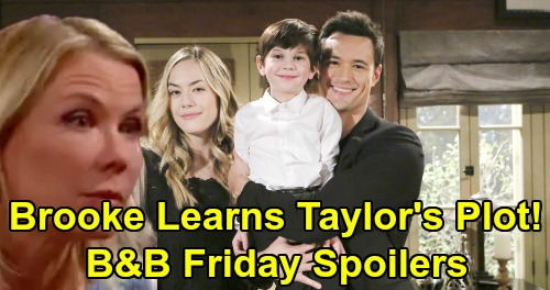 The Bold and the Beautiful Spoilers: Friday, March 29 - Brooke Discovers Taylor's Plot To Break Up Liam and Hope