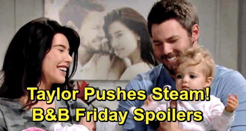 The Bold and the Beautiful Spoilers: Friday, March 8 - Flo Comes Clean, Almost - Taylor Pushes For Steam Reunion