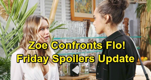 The Bold and the Beautiful Spoilers: Friday, March 1 Update – Flo Discovery Leaves Zoe Enraged – Bill's Fashion House Bombshell