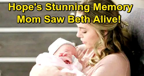 The Bold and the Beautiful Spoilers: Hope Recalls Beth Was Alive - Stunned by New Catalina Island Memory