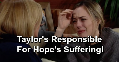 The Bold and the Beautiful Spoilers: Taylor to Blame for Lope's Suffering – Forces Steffy To Trust Reese's Baby Scam