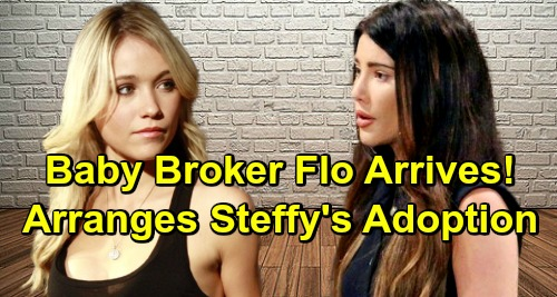 The Bold and the Beautiful Spoilers: Reese's Baby Broker Flo Arrives - Arranges Steffy's Adoption of Beth