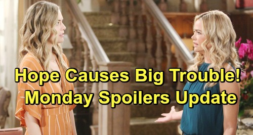 The Bold and the Beautiful Spoilers: Monday, April 15 Update – Hope Bursts Flo's Bubble with Baby Reveal – Bill Grilled by Quinn
