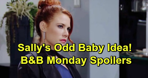 The Bold and the Beautiful Spoilers: Monday, March 11 - Zoe Blasts Flo For Mingling - Sally Observes A Suspicious Baby Coincidence