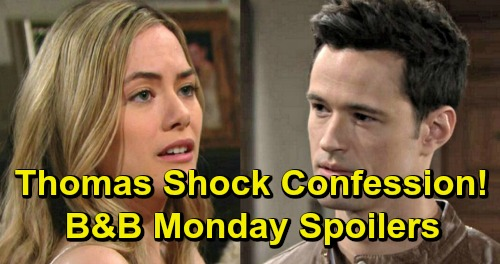 The Bold and the Beautiful Spoilers: Monday, March 25 Update – Thomas Confesses to Hope - Taylor and Brooke's Battle Gets Brutal