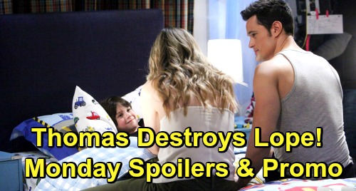 The Bold and the Beautiful Spoilers: Monday, May 20 - Thomas Exploits Dead Caroline and Douglas To Get Hope, Break Up Lope