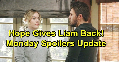 The Bold and the Beautiful Spoilers: Monday, February 25 Update – Hope Gives Liam Back To Steffy and The Kids