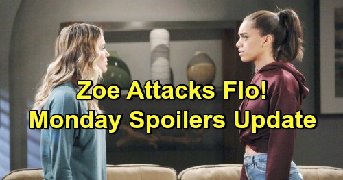 The Bold and the Beautiful Spoilers: Monday, March 11 Update – Sally Points Out Hope and Flo's Baby Connection - Zoe's Meltdown
