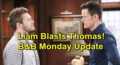 The Bold and the Beautiful Spoilers: Monday, May 27 Update – Hope Pushes Steffy Toward Steam Future – Liam Threatens Thomas