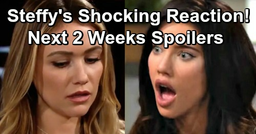 The Bold and the Beautiful Spoilers Next 2 Weeks: Ridge Panics Over Steffy's Reaction To Adopting Logan Baby