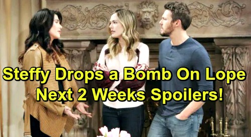 The Bold and the Beautiful Spoilers Next 2 Weeks: Lope Stunned by Steffy's Huge Revelation – Thomas and Sally's Tense Encounter
