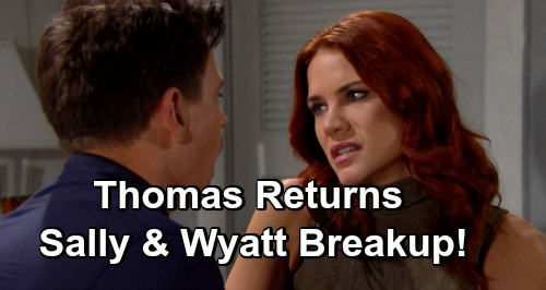 The Bold and the Beautiful Spoilers: Spectra Deal Brings Wyatt and Sally Closer - But Will Thomas Break Them Up?