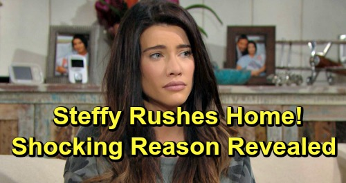 The Bold and the Beautiful Spoilers: Steffy Rushes Home for Shocking Reason – Guilty Flo's Baby Swap Misery Gets Worse
