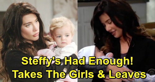 The Bold and the Beautiful Spoilers: Steffy's Had Enough of Lope's Drama - Takes Phoebe and Kelly and Leaves