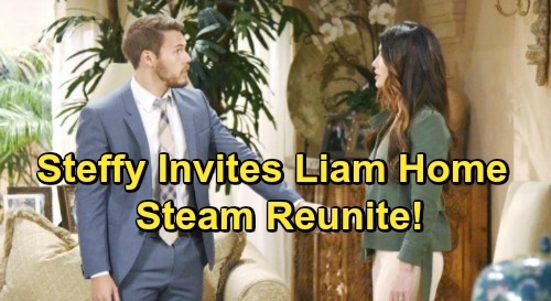 The Bold and the Beautiful Spoilers: Steffy Invites Liam To Move In and Reunite - Makes Hope's Dream a Reality