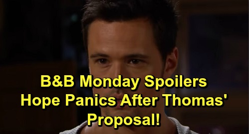 The Bold and the Beautiful Spoilers: Monday, November 4 - Hope Scrambles After Thomas' Proposal - Liam Stunned That Steffy's Dating