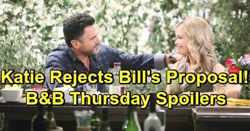 The Bold and the Beautiful Spoilers: Thursday, April 25 - Zoe's Terrified By Flo's Logan Status - Katie Rejects Proposal