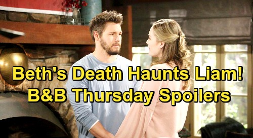 The Bold and the Beautiful Spoilers: Thursday, February 7 - Liam Blames Himself For Beth's Death - Wyatt and Sally Sister Shocker