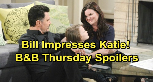 The Bold and the Beautiful Spoilers: Thursday, January 17 - Wyatt and Hope Reflect On Past - Katie's Impressed By Bill