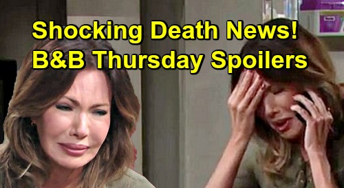 The Bold and the Beautiful Spoilers: Thursday, March 14 - Taylor Gets Shocking Death News - Bill & Katie Realize Set Up