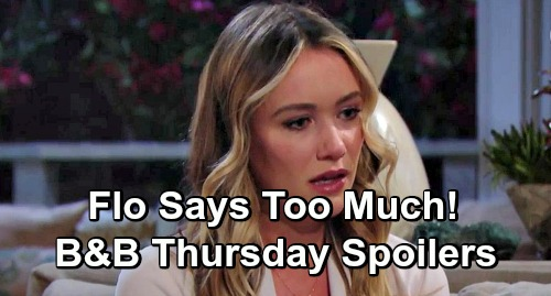 The Bold and the Beautiful Spoilers: Thursday, March 7 - Dinner Party Brings Shockers For Flo, Guilty Baby Swapper Says Too Much