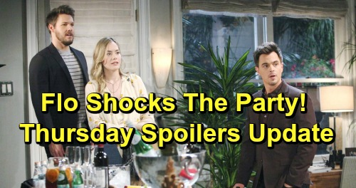 The Bold and the Beautiful Spoilers: Thursday, March 7 Update – Flo Baby Bomb Upsets Dinner Party – Sally Checks Out the Competition