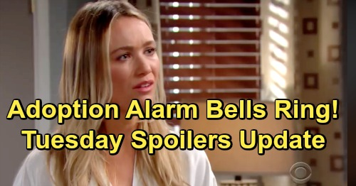 The Bold and the Beautiful Spoilers: Tuesday, February 5 – Baby Suspicions, Adoption Alarm Bells Ring – Zoe Corners Flo