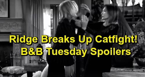 The Bold and the Beautiful Spoilers: Tuesday, March 26 - Ridge Breaks Up Catfight - Wyatt Asks Liam's True Feelings For Steffy