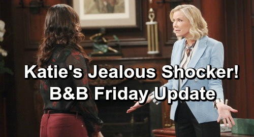 The Bold and the Beautiful Spoilers: Friday, April 26 Update – Flo Knocked Unconscious During Zoe Struggle - Katie's Jealous Shock