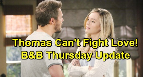 The Bold and the Beautiful Spoilers: Thursday, April 18 Update – Quinn Changes Shauna's Mind – Thomas Can't Fight Hope Love