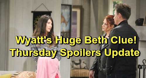 The Bold and the Beautiful Spoilers: Thursday, February 7 Update – Wyatt Gets a Huge Beth Clue - Guilty Liam Pours His Heart Out