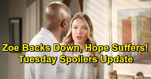 The Bold and the Beautiful Spoilers: Tuesday, February 19 Update – Hope Left Suffering, Zoe Loses Nerve with Steffy