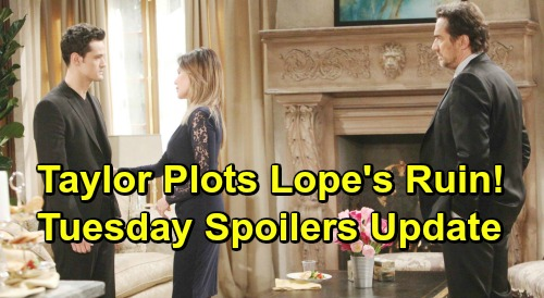 The Bold and the Beautiful Spoilers: Tuesday, March 19 Update – Taylor Plots Lope's Destruction – Final Goodbye to Caroline