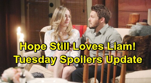 The Bold and the Beautiful Spoilers: Tuesday, May 28 Update – Hope Still Loves Liam, Dislikes Thomas' Kiss – Flo and Wyatt Make Love