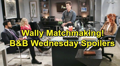The Bold and the Beautiful Spoilers: Wednesday, March 13 - Lope Is Stunned By Steffy's Plan - Sally & Wyatt Become Matchmakers