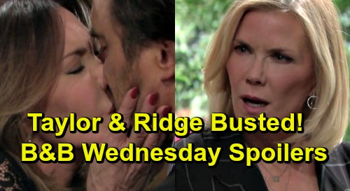 The Bold and the Beautiful Spoilers: Wednesday, March 20 - Bill & Katie Targeted By Cupid Again - Brooke Sees Taylor Kiss Ridge