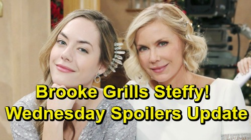 The Bold and the Beautiful Spoilers: Wednesday, February 6 – Brooke Pushes Steffy for Birth Mom Details – Flo Fires Back at Zoe