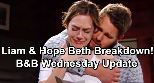 The Bold and the Beautiful Spoilers: Wednesday, May 29 Update – Liam and Hope's Emotional Beth Breakdown