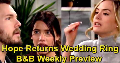 The Bold and the Beautiful Spoilers: Week of February 25 Preview - Hope's Heartbreaking Divorce Meltdown – Hands Liam Wedding Ring