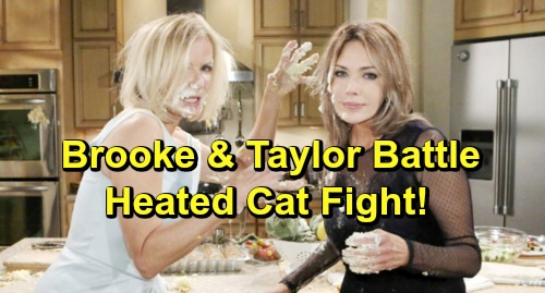 The Bold and the Beautiful Spoilers: Week of March 18 - Things Get Physical During Taylor and Brooke's Heated Cat Fight