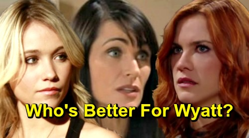 The Bold and the Beautiful Spoilers: Who's A Better Match For Wyatt - Flo or Sally?