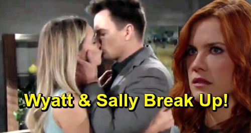The Bold and the Beautiful Spoilers: Wyatt and Sally Split - Couple Can't Overcome Sally's Secret or Wyatt's Cheating With Flo