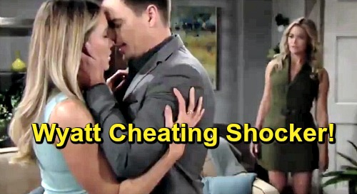 The Bold and the Beautiful Spoilers: Wyatt Reels From Sally's Deception - Turns To Flo For Comfort and Heavy Make Out Session